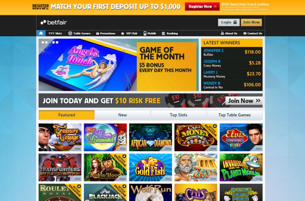 betfair casino официальный сайт